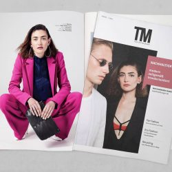 FINA MESH IN TM TEXTILMITTEILUNGEN [Werbung] So happy to be part of the May issue of @tm_textilmitteilungen! The entire issue revolves around the topic of sustainability in fashion industry and the bag Fina Mesh - made of eco-tanned Italian cowhide - fits in perfectly with this exciting and importan...