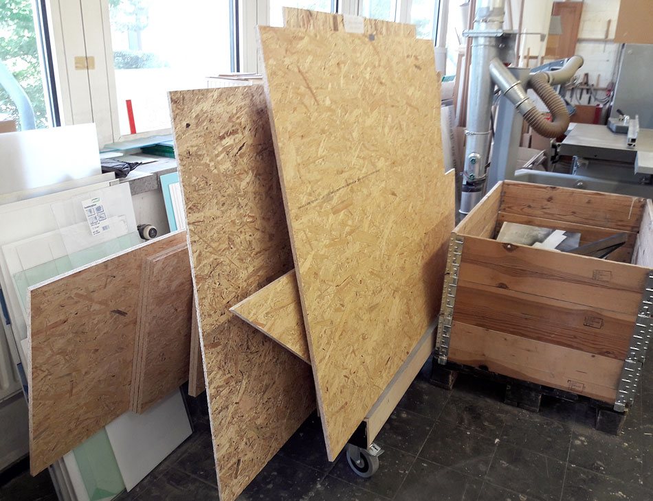 Holz für Möbelbau Pop Up Store Showpieces