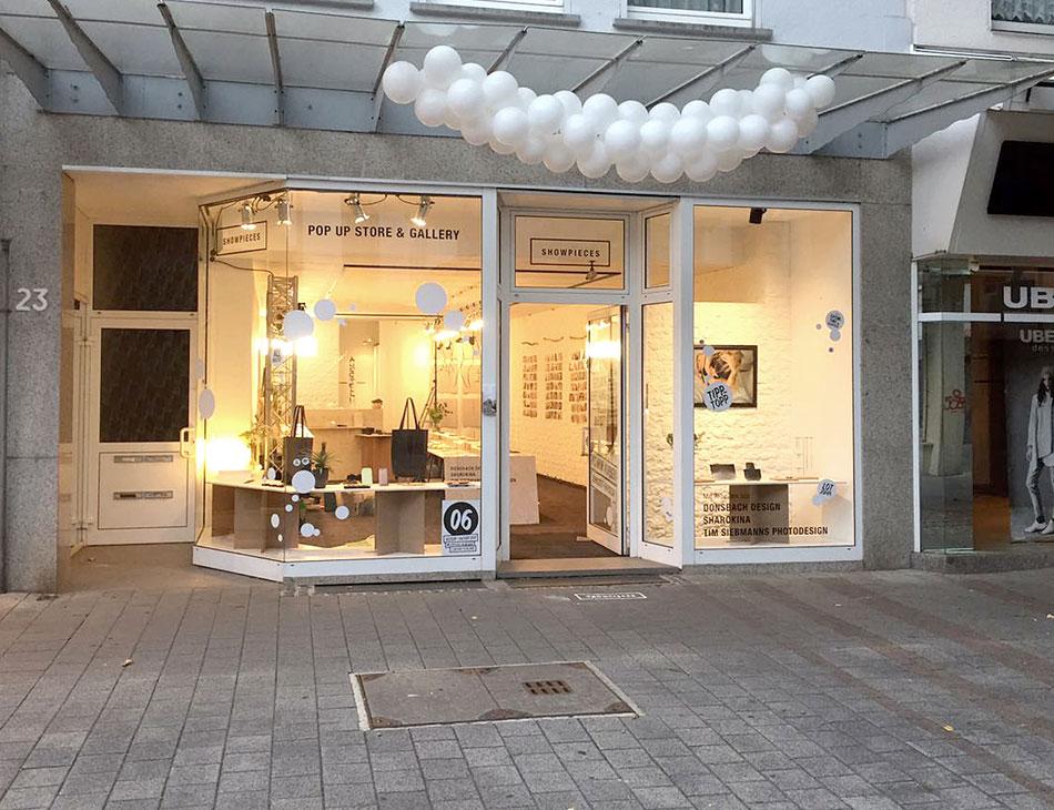 Eröffnung Pop Up Store SHAROKINA Showpieces Schauzeit Rheydt
