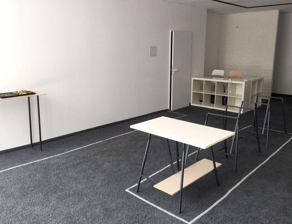 Möbelbau für den Pop Up Store Showpieces zur Schauzeit Rheydt