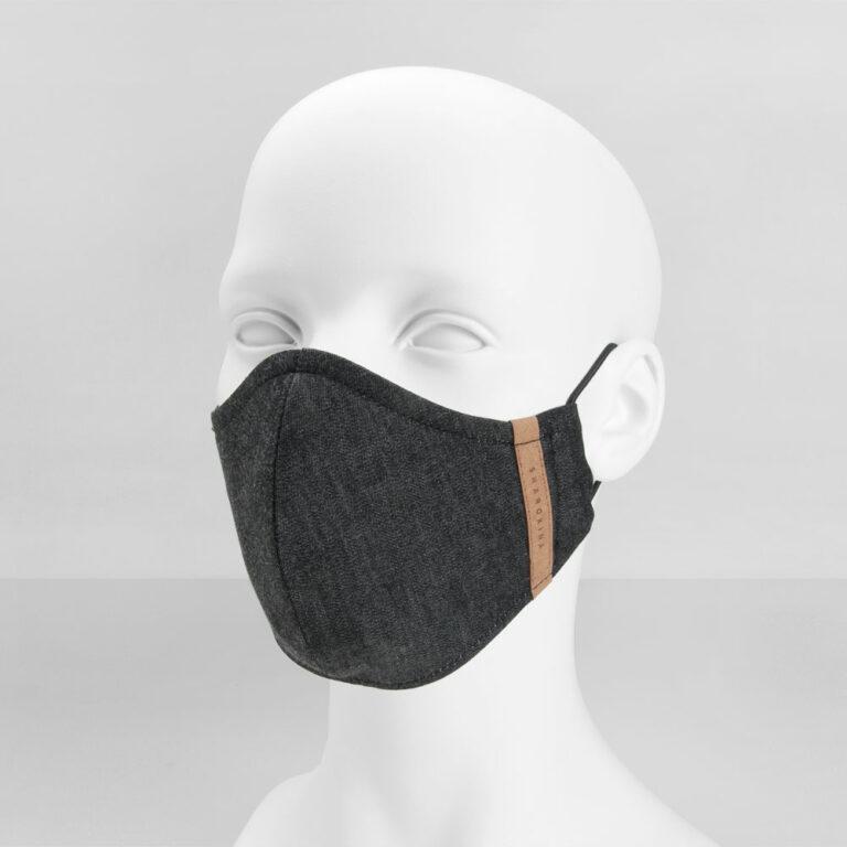 Stoffmaske Premium Denim Black