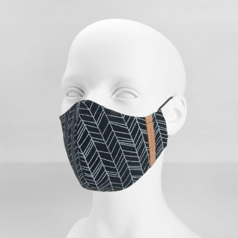 Stoffmaske Premium Lines Black