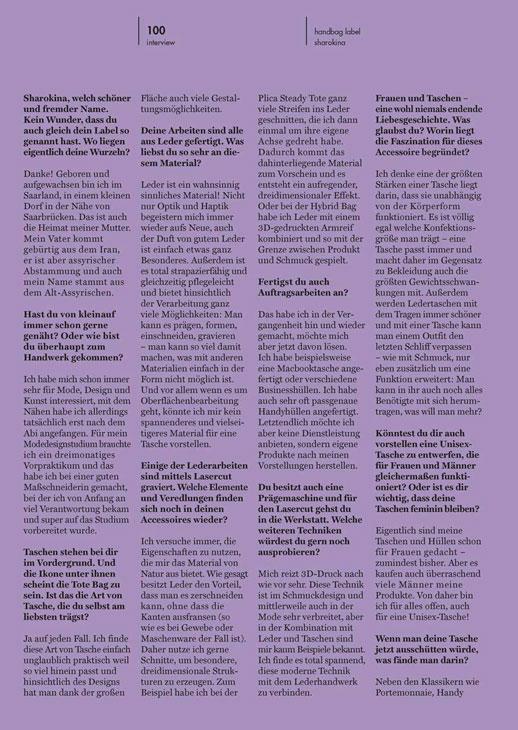 SHAROKINA Interview Topknot Magazin